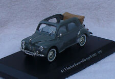 Renault 4CV Cabrio grau 1953 1:43 Eligor Blister Modellauto / Die-cast