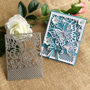 Butterfly Lace Frame Metal Cutting Dies Stencils Scrapbooking Embossing Card u