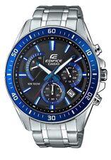 Casio Edifice Para Hombre Reloj EFR-552D -1 a 2 VUEF Azul Plata Negro Cronógrafo Nuevo Y En Caja