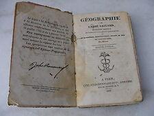 GÉOGRAPHIE L'ABBÉ GAULTIER PARIS JULES RENOUARD 1845