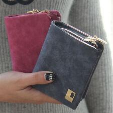 Leather Clutch Checkbook Change Coin Bag Women Purse Mini Ladies Handbag Wallets