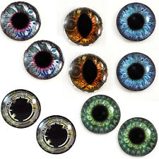 Lot 5 Pairs of 25mm Steampunk Glass Eyes for Jewelry Taxidermy Art Sculptures