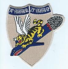 74th FIGHTER SQUADRON #2 MORALE patch