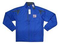 New York Giants NFL Blue Black Highland Full Zip Windbreaker Jacket Men's NEW