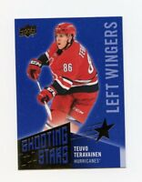 18/19 UPPER DECK SHOOTING STARS BLUE #SSL-7 TEUVO TERAVAINEN HURRICANES *59157