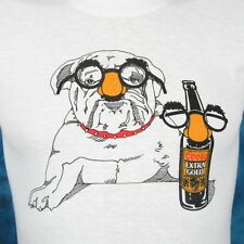 vintage 80s COORS EXTRA GOLD LAGER BEER CARTOON BULLDOG T-Shirt XXS soft thin
