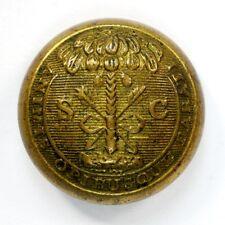 Non Dug Civil War South Carolina State Seal Button Cadet Size