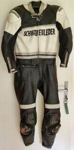 """""""Schwabenleder"""" Motorradkombi, schwarz-weiß, für 60-70kg und 175cm Körpergröße"""