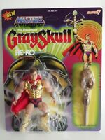 FIGURINE MASTERS OF THE UNIVERSE MOTU POWERS  GRAYSKULL SUPER7 14 CM He-Ro neuf