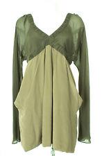 TONY COHEN Kleid Dress Robe Seide Damen Gr. L