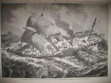BERMUDES NAUFRAGE VAISSEAU VAUBAN ATALA ILLUSTRATIONS GUSTAVE DORé GRAVURES 1863
