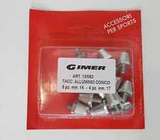 Tacchetti in ALLUMINIO per scarpe da calcio GIMER 8 + 4 pezzi