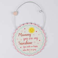 "Sass & Belle ""Mummy You Are My Sunshine Round"" Sign/Plaque Decoration 10x10cm"