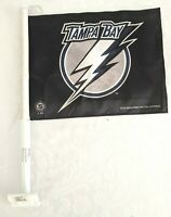 """Tampa Bay Lightning NHL 15"""" x 11"""" Two-Sided Car Flag-New w/Tags"""