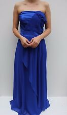 Coast Blue Bandeau Frill Fishtail Wedding Evening Maxi Dress 16 44 US 12 New