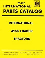International Harvester 4155 Loader Tractor Chassis Parts Catalog Manual IH