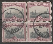 SOUTH AFRICA 1927 UNION BUILDINGS 2D BLOCK USED LONDON PRINTING