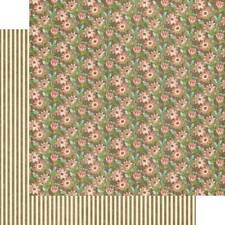 4 Pages Graphic 45 Botanical Tea Field of Flowers Cardstock Paper Pink Flowers