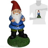 Garden Gnome Statue Double Bird Funny Sculpture Yard Patio Home Lawn Decoration