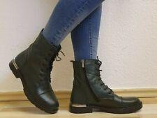 Damen -Stiefel, Stiefeletten, Boots, echtes Leder, EU 40, Grün Neu/New