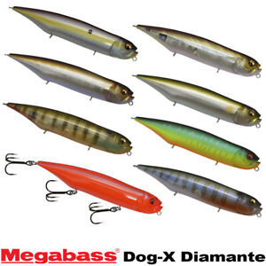 Megabass Dog-X Diamante 3/4 OZ Assorted Colors Topwater Silent