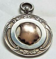 Sterling Silver with Gold Cartouche Antique Vintage 1932 Fob Medal