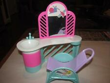 Vintage 1987 Barbie ARCO Styling Salon Sink Vanity  Chair Doll Size