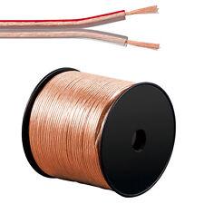 100m Lautsprecherkabel 2 x 1,5 mm² Hifi Audiokabel Boxenkabel 2x1,5mm² transp.