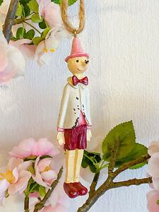 Clayre & Eef Pinocchio Hänger Deko Figur Vintage Nostalgie