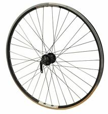 700c FRONT ALL BLACK QR Disc Double Walled Eyeletted Hybrid Commuting Bike Wheel