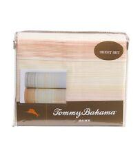 TOMMY BAHAMA Coastal Stripe Papaya Orange Cotton Twin Sheet Set