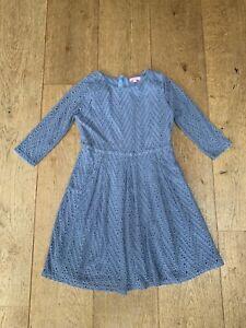 Jigsaw Junior Blue Broderie Dress Age 8-9 Year