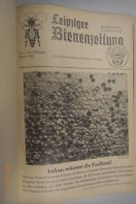 Leipziger Bienenzeitung Jahrgang 1952 gebunden Imker Bienen Honig