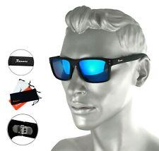 Wayfarer Sonnenbrille schwarz matt schwarz Verspiegelt rechteckig Rennec Wf1