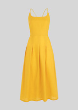 Whistles - - Duffy Linen Strappy Dress - Yellow - New With Tag - Size 10