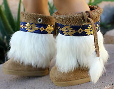 American Girl Doll Hand Made Native American Indian Mukluk Boots 18' Doll Boots