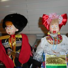 British Guard Doll AND Costumed Woman Artist Made Outstanding Faces & Costumes