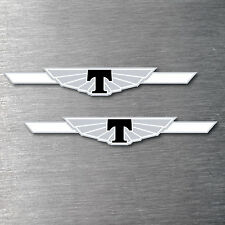 Tickford black decal sticker 2 pack 7 yr water & fade proof vinyl sticker badge