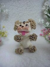 Spaghetti Poodle~Vintage Puppy Dog With Fly Or Bee On Forehead~Big Eyes