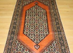 Oriental Persian Hand Knotted Silk Rug Carpet Tribal Design Floor Room Decor