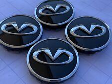 4x Original Nissan Infiniti Schwarz Radkappen Rad deckel Radnaben Radababdeckung