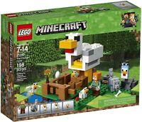 NEW LEGO MINECRAFT 21140 THE CHICKEN COOP FARM ALEX WOLF BUILDING SET - BNIB