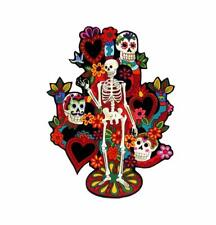 Tree of Life Iron on Patches Tattoo Patch Day of the Dead Sugar Skull Skeleton