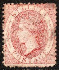 St Lucia 1864 brown-orange 1/- perf 12.5 mint SG14