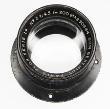 Som Berthiot No.5 Series 1c 200mm f4.5 Flor Barrel Lens  #290984