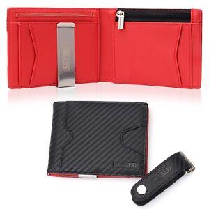 grande acciaio inox e carta di credito VOSAREA Fermasoldi per uomini e donne con porta carte di credito