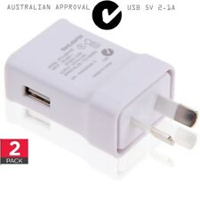 2x USB AC 2.1A 5V Wall Charger Cable Adapter for iPhone X 6 Samsung S8 Asus Sony