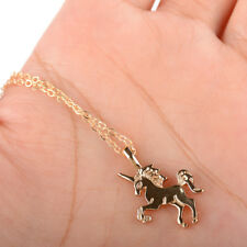 Gold Unicorn Necklace Pendant Alloy Clavicle Chain Choker For Friends Gifts Cute