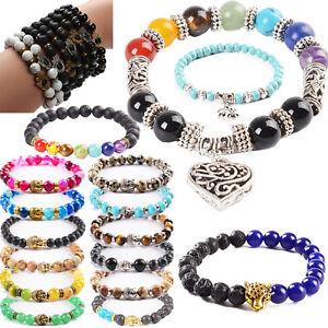Beads Stones 7 Chakra Gemstone Buddha Jewell Prayer Beaded Bracelet Men / Women