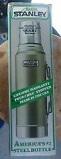 Stanley Classic Thermos Unbreakable Hammertone Green Cold Hot Tea Coffee Soup